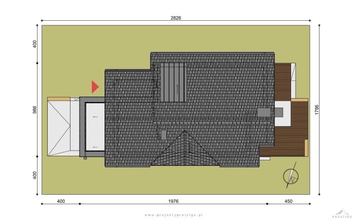 Projekt domu Kornelia działka