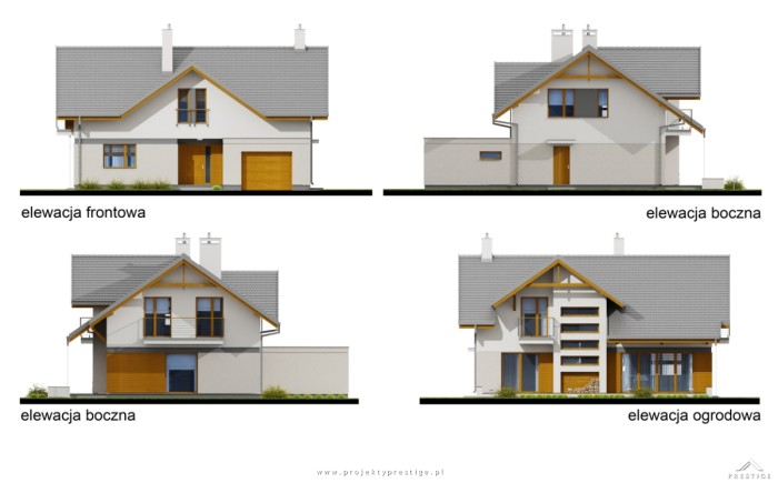Projekt domu Wiliam IV elewacje