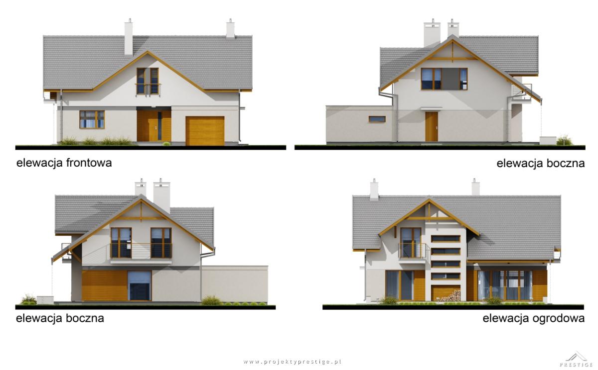 Projekt domu Wiliam IV elewacja