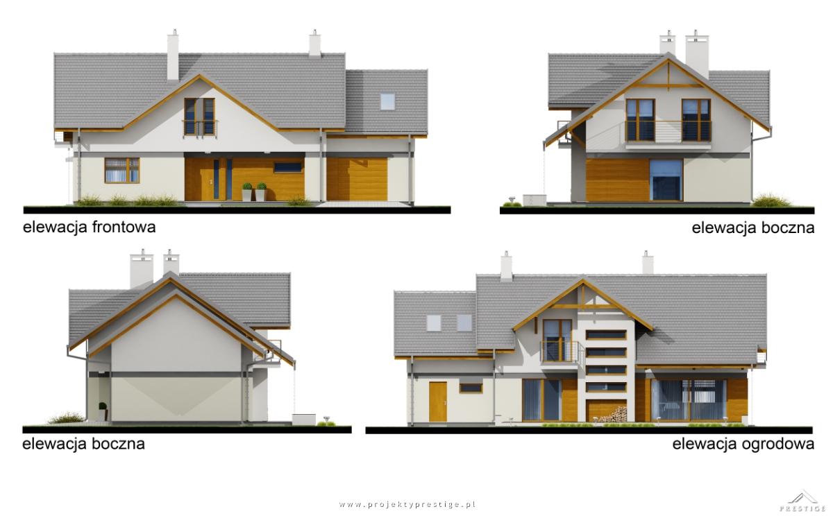 Projekt domu Wiliam VII elewacja