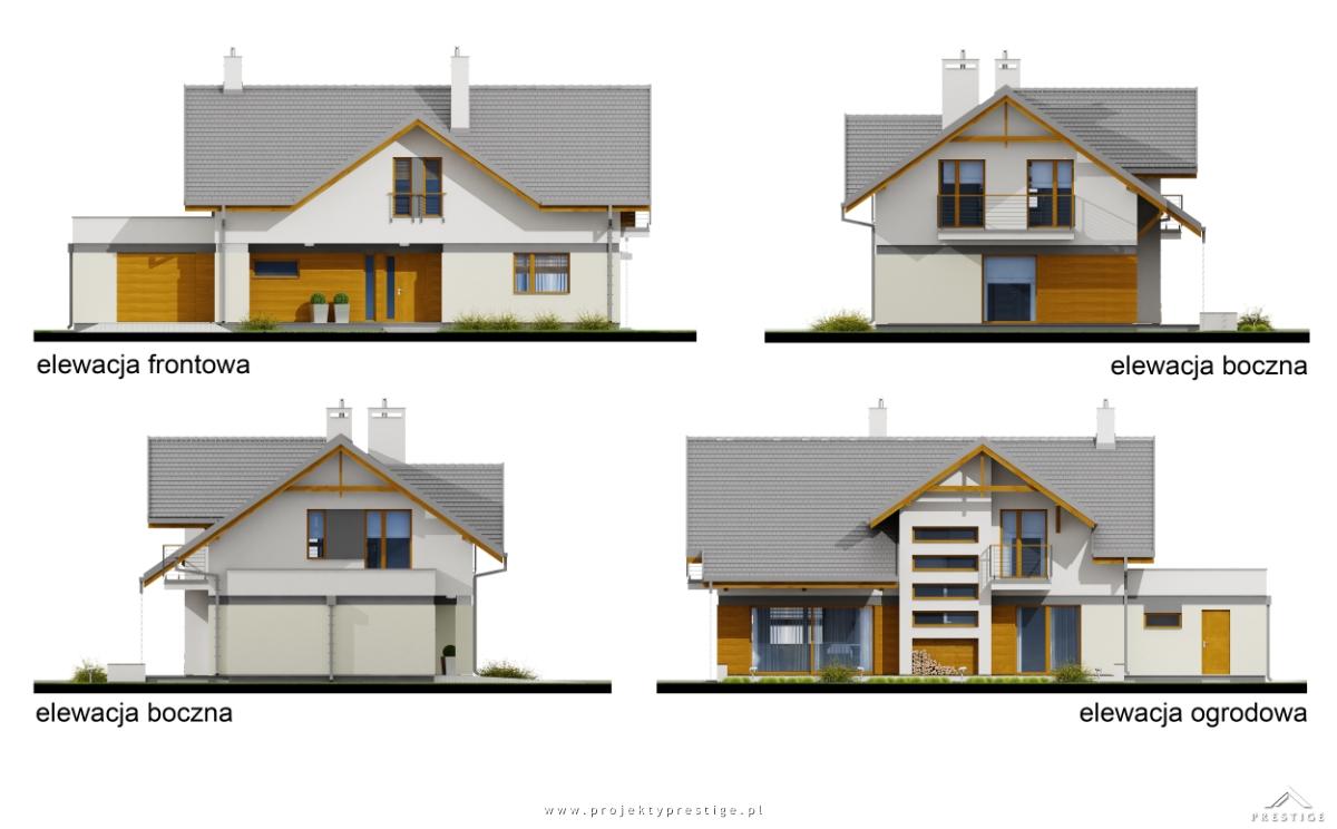 Projekt domu Wiliam VI elewacja