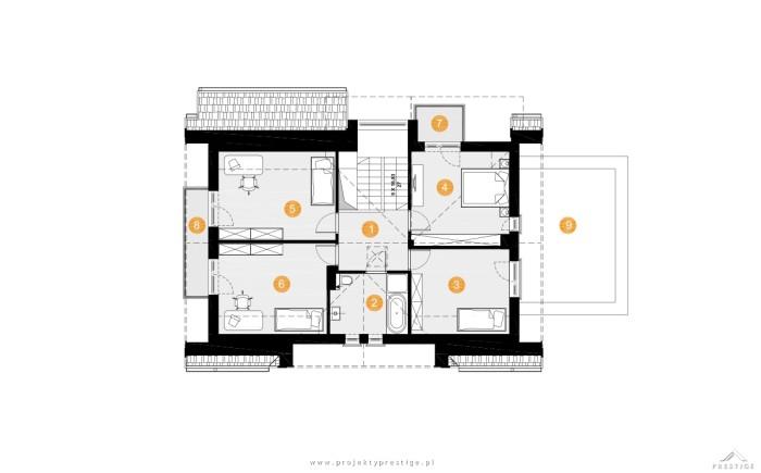 projekt domu wiliam-vi-poddasze lustro