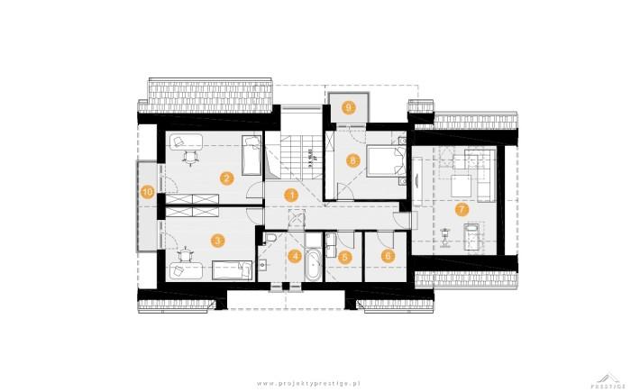 projekt domu wiliam vii rzut piętro lustro