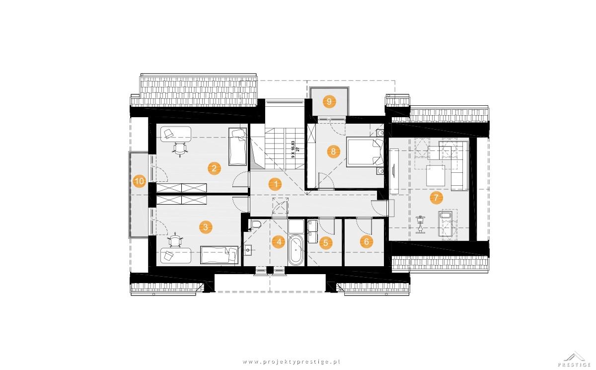 Projekt domu Wiliam VII rzut