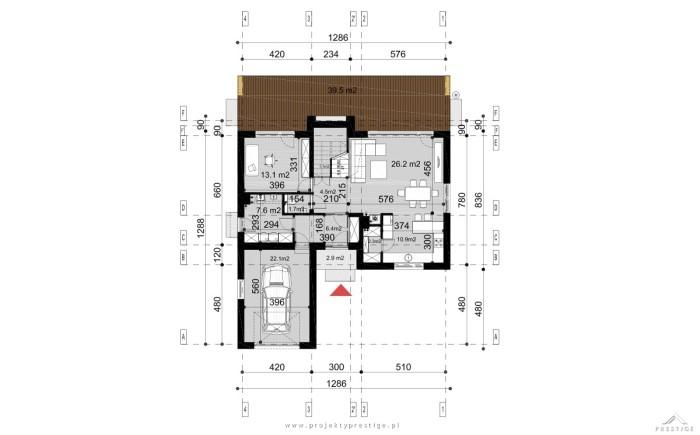 Projekt domu Wiliam IV rzut