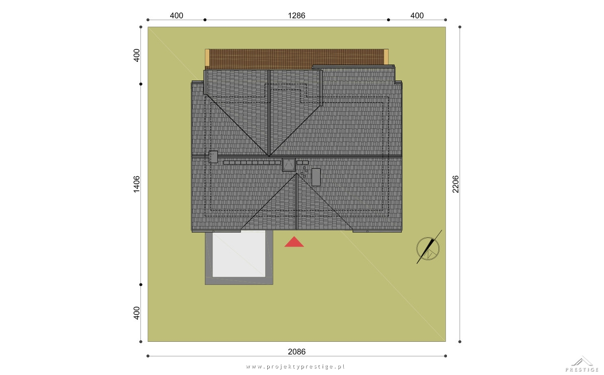Projekt domu Wiliam IV działka