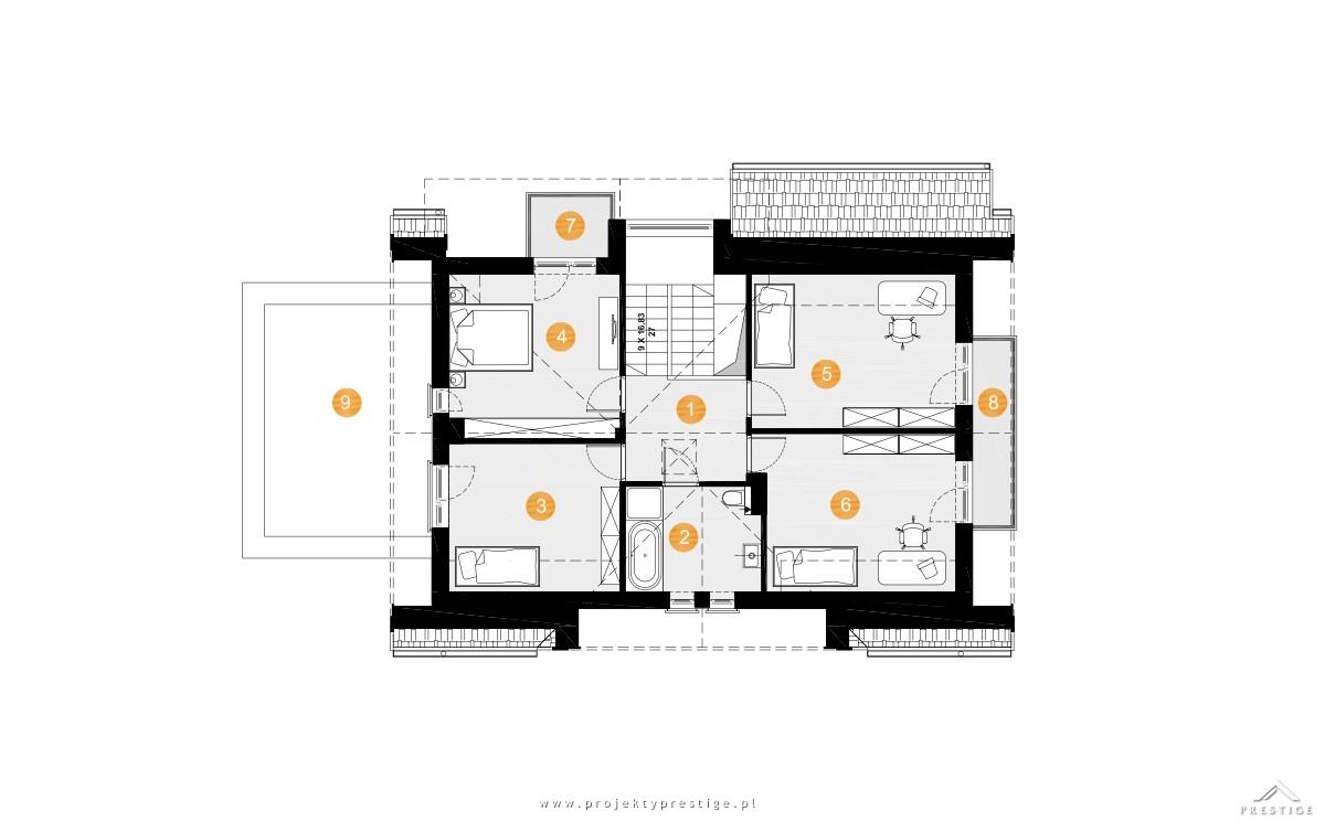 Projekt domu Wiliam VI rzut