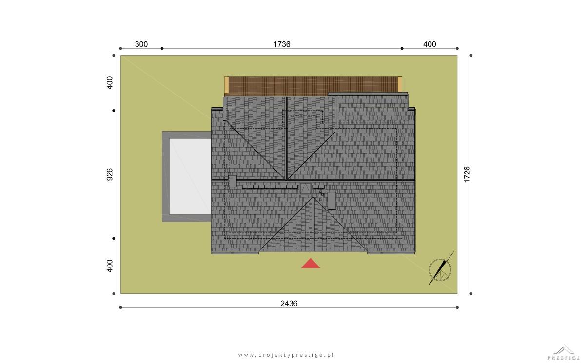 Projekt domu Wiliam VI działka