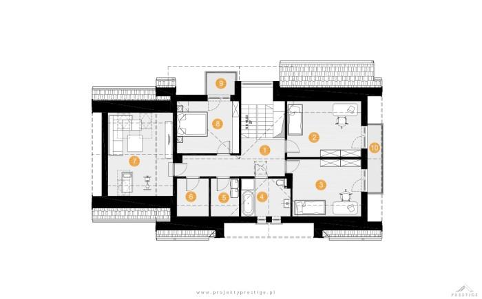 projekt domu wiliam vii rzut piętro