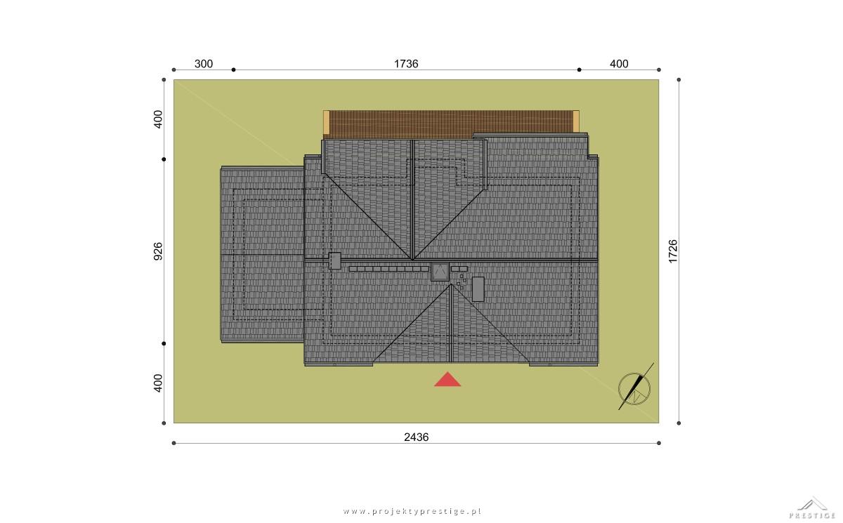 Projekt domu Wiliam VII działka