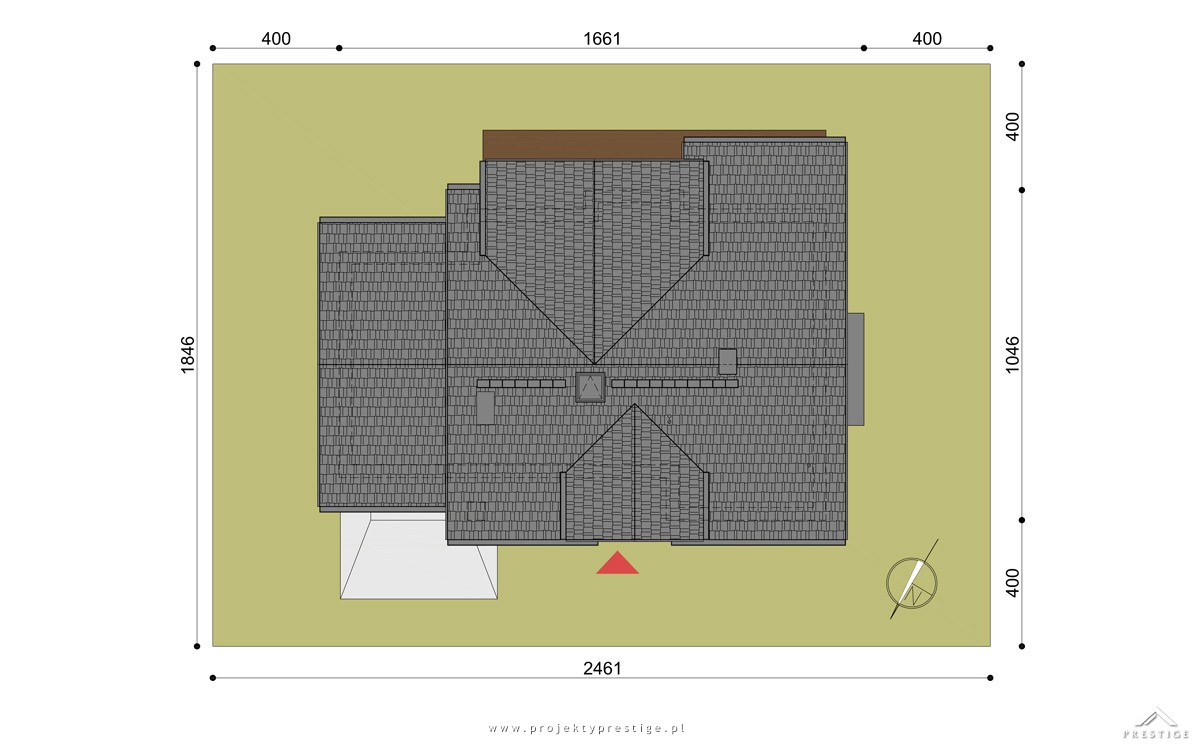 Projekt domu Henryk I działka