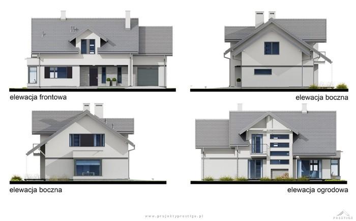 projekt domu Henryk I - elewacje