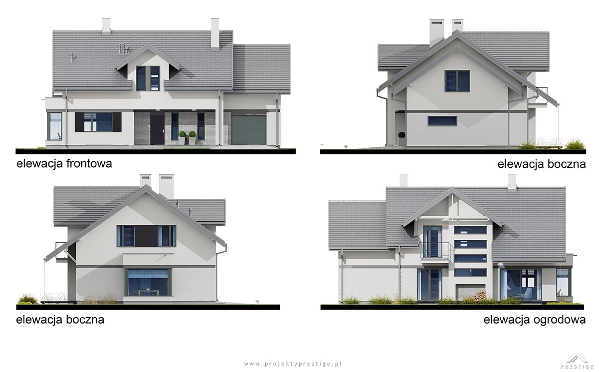 Projekt domu Henryk I elewacja