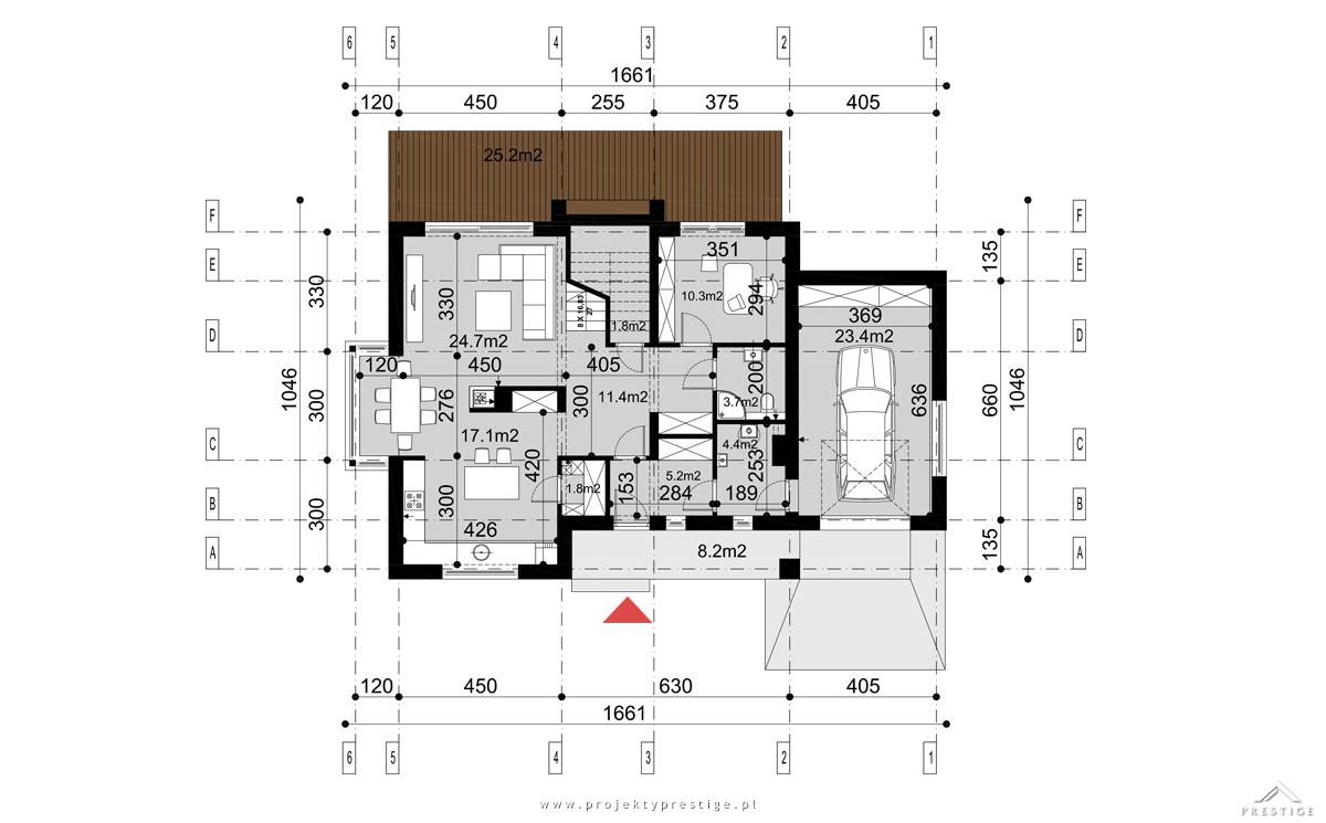 Projekt domu Henryk I rzut