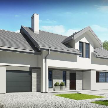 projekt domu henryk i - wizualizacja