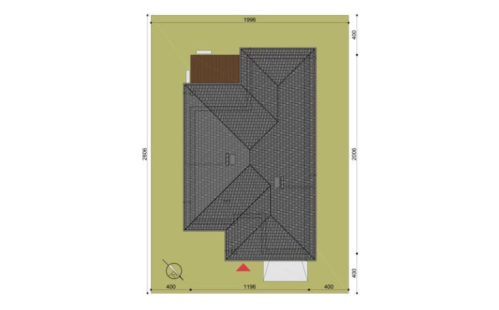 pzt-lustro-z√projekt domu hary - rzut