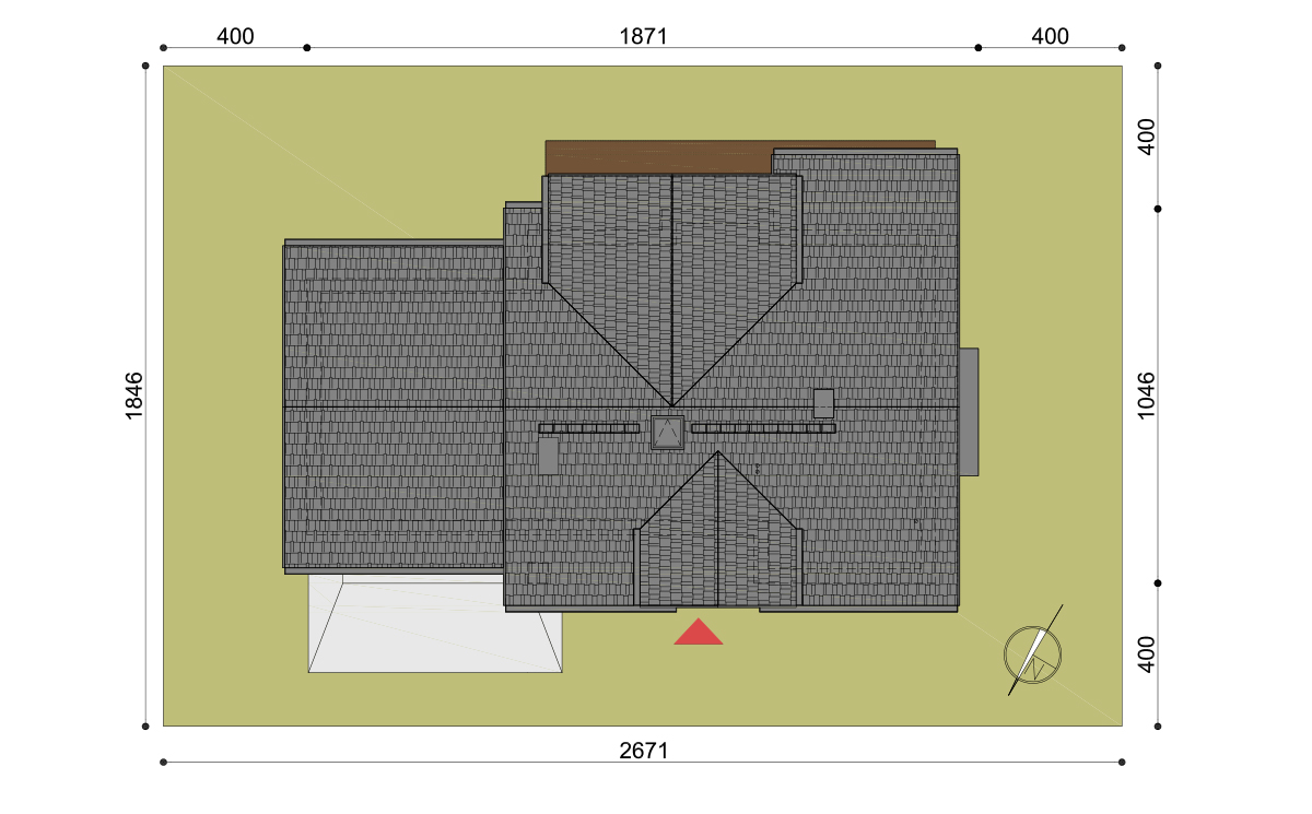 Projekt domu Henryk II działka