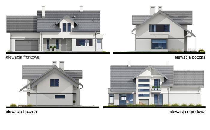 projekt domu Henryk II - elewacje