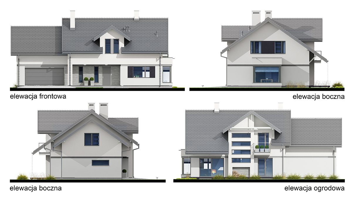 Projekt domu Henryk II elewacja