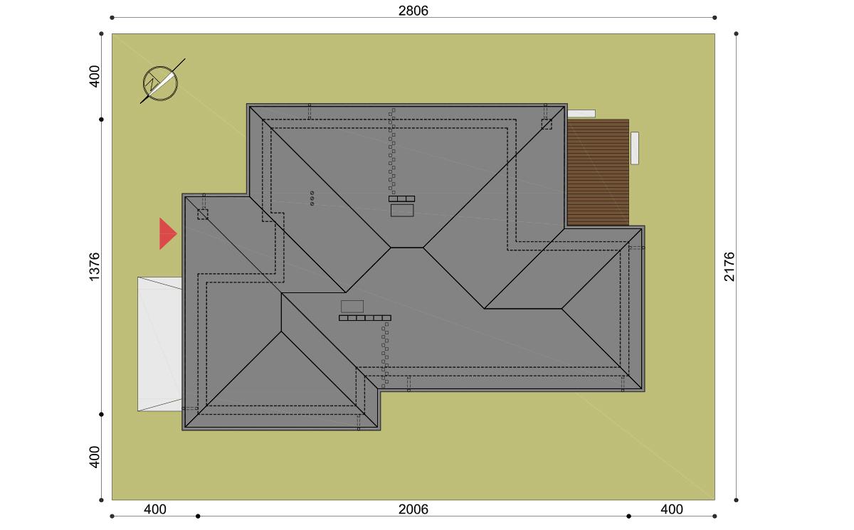 Projekt domu Hary II działka