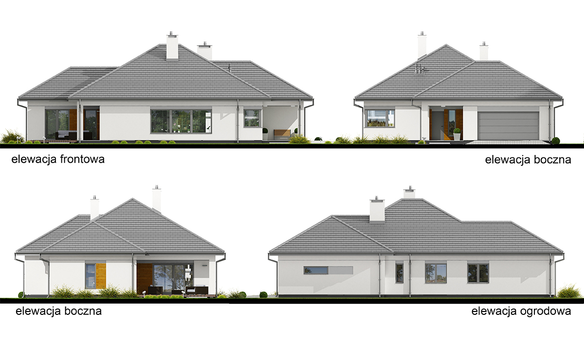 Projekt domu Hary II elewacja