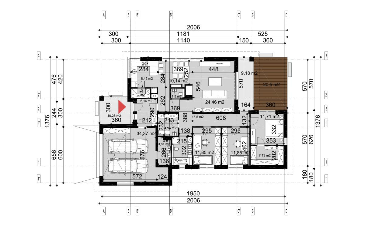 Projekt domu Hary II rzut