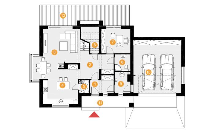 projekt domu henryk 2 - rzut
