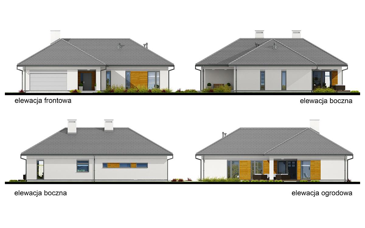 Projekt domu Kate I elewacja