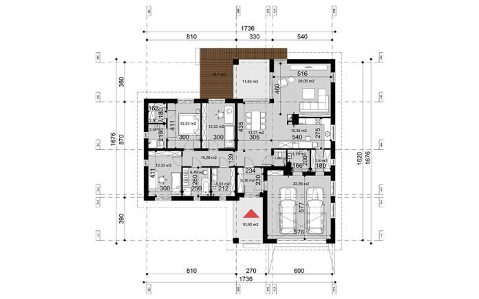 Projekt domu Kate I wymiary