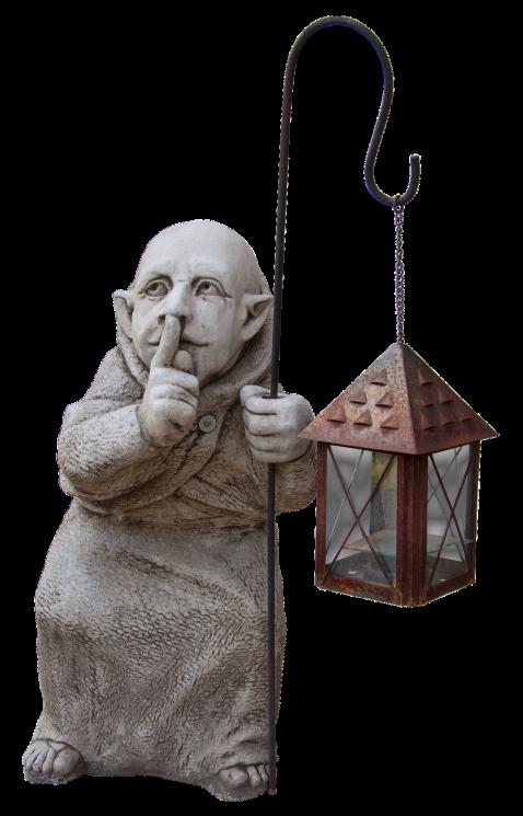 kamienna figura - latarnia do ogrodu